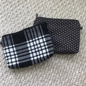 Thirty-One canvas zip pouches (2 in set!)
